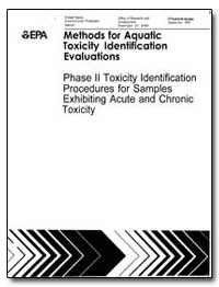 Methods for Aquatic Toxicity Identificat... by Durhanl, E. J.