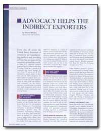 Advocacy Helps the Indirect Exporters by Williams, Patrice