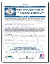 New Opportunities in the Global Economy by Advincula, Ross