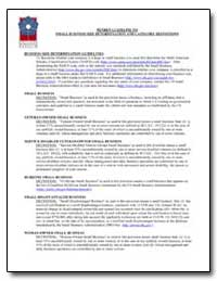 Penren Guideline to Small Business Size ... by Federal Trade Commission