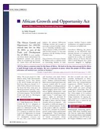 African Growth and Opportunity Act by Vineyard, Holly