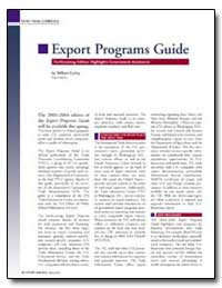 Export Programs Guide by Corley, William