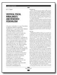Vertical Fiscal Imbalances and Renewed F... by Ruggeri, G. C.
