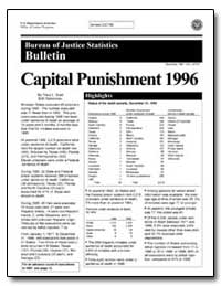 Capital Punishment 1996 by Snell, Tracy L.