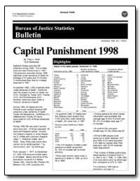 Capital Punishment 1998 by Snell, Tracy L.