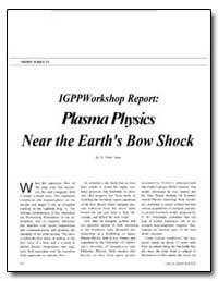 Igpp Workshop Report : Plasma Physics Ne... by Gary, S. Peter