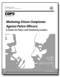 Mediating Citizen Complaints against Pol... by Walker, Samuel