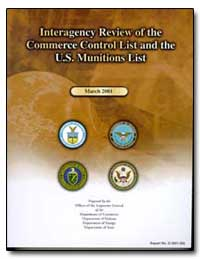 Interagency Review of the Commerce Contr... by Friedman, Gregory H.