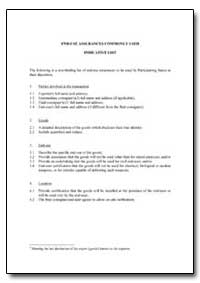 End-Use Assurances Commonly Used Indicat... by