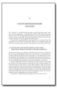 Counterterrorism Evolves by