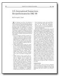 U.S. International Transactions Revised ... by Bach, Christopher L.