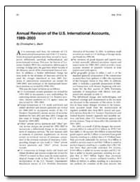 Annual Revision of the U. S. Internation... by Bach, Christopher L.