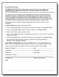 Confidential Certificate of No New Inter... by Department of Commerce