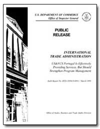 International Trade Administration Us an... by Department of Commerce