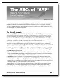 The Abcs of Ayp Raising Achievement for ... by Department of Education