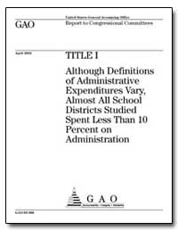 Title I Although Definitions of Administ... by Department of Education