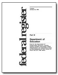 Department of Education [Cfda Nos. 84. 3... by Longanecker, David A.