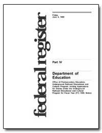 Department of Education [Cfda No. 84. 34... by Longanecker, David A.