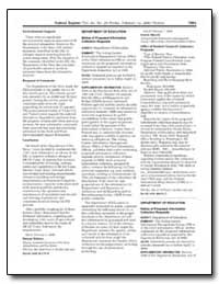 Department of Education Notice of Propos... by Sherrill, Patrick J.