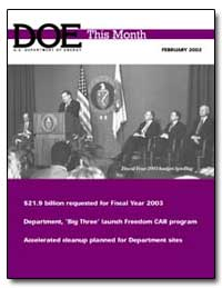Fiscal Year 2003 Budget Briefing by Abraham, Spencer