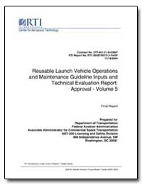 Reusable Launch Vehicle Operations and M... by Mendonca, Janice