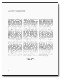 Acknowledgments by Federal Depository Library