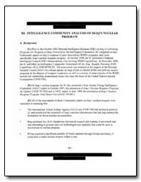 111. Intelligence Community Analysis of ... by Federal Depository Library