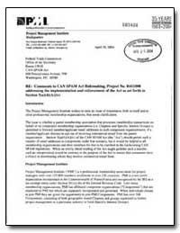 Re: Comments to Can Spam Act Rulemaking,... by Scarborough, William
