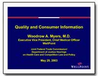 Quality and Consumer Information by Myers, Woodrow A.