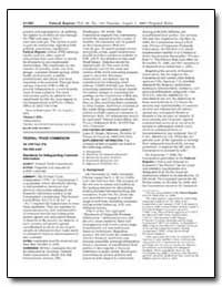 Federal Trade Commission 16 Cfr Part 314... by Plummer, C. Landis