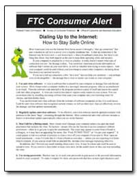 Ftc Consumer Alert by Conway, Arthur William