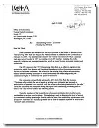 Re: Telemarketing Review - Comment Ftc F... by Clark, Andrew E.