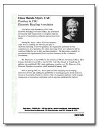 Elissa Matulis Myers, Cae President and ... by Myers, Elissa Matulis