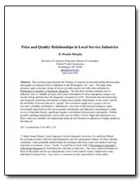 Price and Quality Relationships in Local... by Murphy, R. Dennis