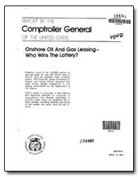 Onshore Oil and Gas Leasing-- Who Wins t... by General Accounting Office