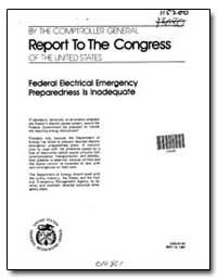 Federal Electrical Emergency Preparednes... by General Accounting Office