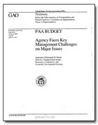 Agency Faces Key Management Challenges o... by Mead, Kenneth M.