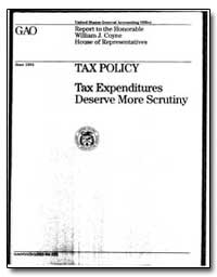 Tax Policy Tax Expenditures Deserve More... by Stathis, Jennie S.