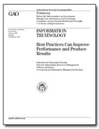 Information Technology Best Practices Ca... by Hoenig, Christopher