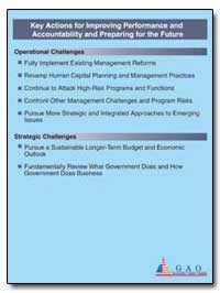 Key Actions for Improving Performance an... by General Accounting Office