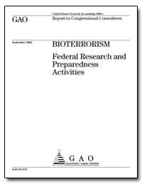 Federal Research and Preparedness Activi... by General Accounting Office
