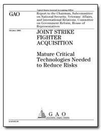 Joint Strike Fighter Acquisition Mature ... by General Accounting Office