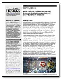 September 11 More Effective Collaboratio... by General Accounting Office