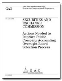 Securities and Exchange Commission Actio... by General Accounting Office