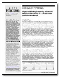 Improved Strategic Planning Needed to He... by General Accounting Office