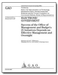 Electronic Government Success of the Off... by Willemssen, Joel C.