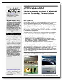 Factors Affecting Outcomes of Advanced C... by General Accounting Office