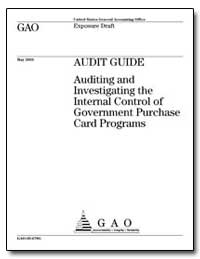 Audit Guide Auditing and Investigating t... by General Accounting Office