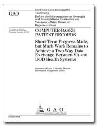 Computer-Based Patient Records Short-Ter... by Koontz, Linda D.