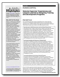 Human Capital Selected Agencies Experien... by General Accounting Office